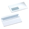 5 Star Envelopes Wallet Press Seal Window 90gsm White DL [Pack 500]