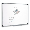 5 Star Whiteboard Drywipe Magnetic with Pen Tray and Aluminium Trim W900xH600mm