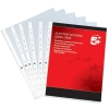 5 Star Office Punched Pocket Polypropylene Top and Side-opening A4 Glass Clear [Pack 100]