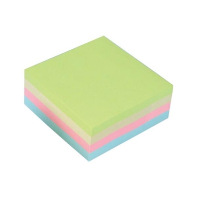 5 Star Re-Move Notes Cube Pad of 400 Sheets 76x76mm Pastel Rainbow