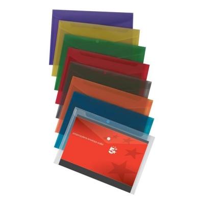 5 Star Envelope Wallet Polypropylene A4 W235mmxD335mm Translucent Assorted [Pack 25]