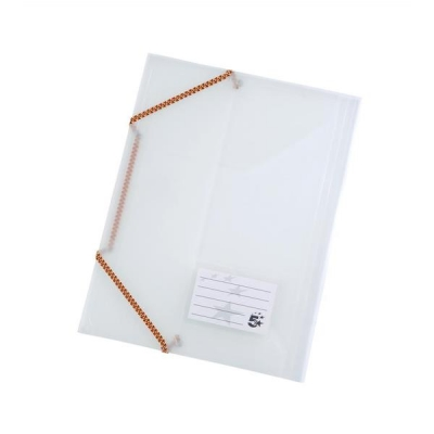 5 Star 3 Flap Elasticated File Polypropylene A4 Translucent [Pack 5]