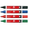 5 Star Flipchart Marker Pen Water-based Line Width 2.0mm Assorted [Pack 4]
