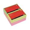 5 Star Re-Move Notes Repositionable Neon Pad of 100 Sheets 76x127mm Assorted [Pack 12]