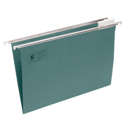 5 Star Suspension File Manilla Heavyweight with Tabs and Inserts A4 Green [Pack 50]