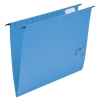 5 Star Suspension Files Manilla Wrapover Bar Tabs and Inserts Foolscap Blue [Pack 50]