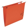 5 Star Suspension Files Manilla Wrapover Bar Tabs and Inserts Foolscap Red [Pack 50]