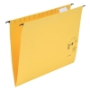 5 Star Suspension Files Manilla Wrapover Bar Tabs and Inserts Foolscap Yellow [Pack 50]