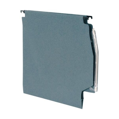 5 Star Lateral Files Manilla Heavyweight with Clear Tabs and Inserts W275mm Green [Pack 50]