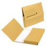 5 Star Document Wallet Half Flap 285gsm Capacity 32mm A4 Yellow [Pack 50]