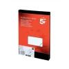 5 Star Labels Laser Copier and Inkjet 70x42.4mm 21 per Sheet [2100 Labels]