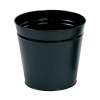 5 Star Waste Bin Round Metal Scratch Resistant D300xH280mm 15 Litres Black