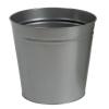 5 Star Waste Bin Round Metal Scratch Resistant D300xH280mm 15 Litres Silver Metallic