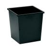5 Star Waste Bin Square Metal Scratch Resistant W325xD325xH350mm 27 Litres Black