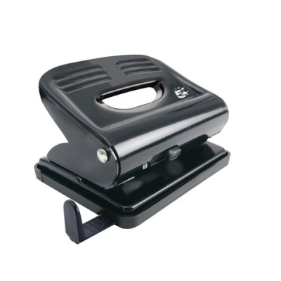 5 Star Punch 2-Hole Plastic Base Metal Handle Capacity 18x 80gsm Black