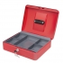 5 Star Cash Box 12 Inch W300xD240xH90mm Red