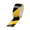 Hazard Tape Soft PVC Internal Use 50mmx33m Black and Yellow [Pack 6]