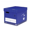 5 Star Superstrong Archive Storage Box Foolscap Blue [Pack 10]