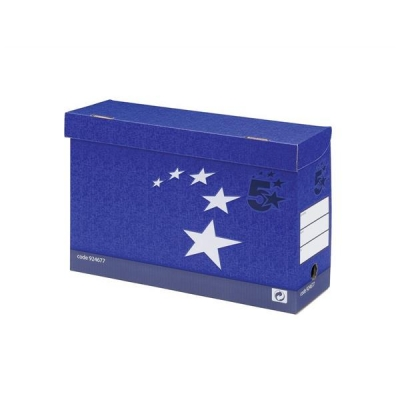 5 Star Transfer Case Foolscap Blue [Pack 10]