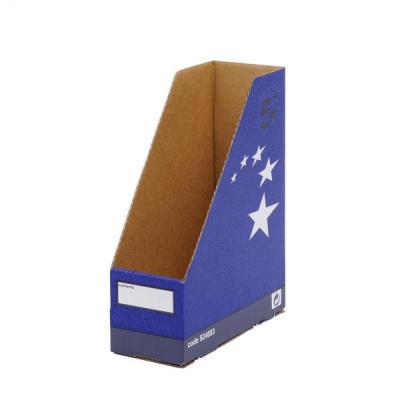 5 Star Magazine File Quick-assembly Recycled A4 Plus Blue [Pack 10]