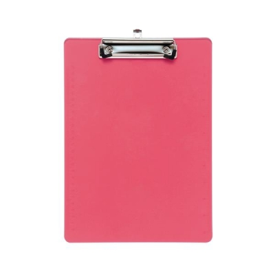 5 Star Clipboard Solid Plastic Durable with Rounded Corners A4 Pink