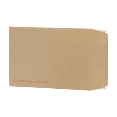 5 Star Envelopes Board-backed Hot Melt Peel and Seal 120gsm Manilla 350x248mm [Pack 125]