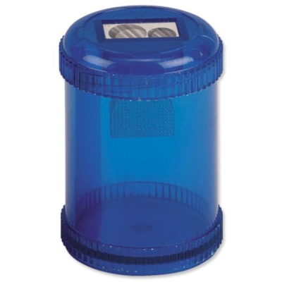 5 Star Pencil Sharpener Plastic Canister Maximum Pencil Diameter 8mm 2 Hole Coloured