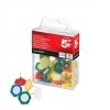 5 Star Indicator Pins 20mm Head Assorted [Pack 10]