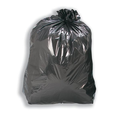 5 Star Refuse Sacks Recycled 120 Gauge 110 Litre Capacity Black [Box 200]