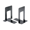 Bookends Metal Heavy Duty 180mm Black [Pack 2]