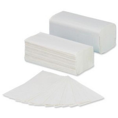 5 Star Facilities Hand Towel V-Fold Two-ply Recycled Material Sheet Size 250x230mm White [3200 Sheets]
