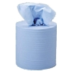 5 Star Facilities Centrefeed Tissue Refill for Dispenser Blue Two-ply 150m [Pack 6]