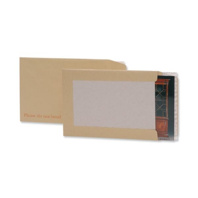 5 Star Envelopes Board-backed Hot Melt Peel and Seal 120gsm C3 Manilla [Pack 50]