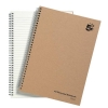 5 Star Notebook Wirebound Hard Cover Recycled 80gsm A4 Manilla [Pack 5]