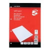5 Star Refill Pad FSC Feint Headbound Ruled with Margin 70gsm 4-Hole Punched 80 Sheets A4 [Pack 10]