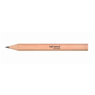 Half Pencil Wooden Half Length HB Plain [Pack 144]