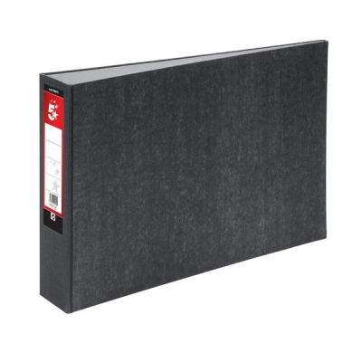 5 Star Lever Arch File 70mm Spine Oblong Landscape A3 Cloudy Grey [Pack 2]