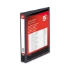 5 Star Presentation Ring Binder PVC 4 D-Ring 25mm Size A4 Black [Pack 10]