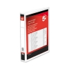 5 Star Presentation Ring Binder PVC 4 D-Ring 25mm Size A4 White [Pack 10]