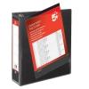 5 Star Presentation Ring Binder PVC 4 D-Ring 50mm Size A4 Black [Pack 10]