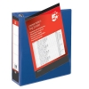 5 Star Presentation Ring Binder PVC 4 D-Ring 50mm Size A4 Blue [Pack 10]