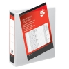 5 Star Presentation Ring Binder PVC 2 D-Ring 50mm Size A4 White [Pack 10]