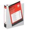 5 Star Presentation Ring Binder PVC 4 D-Ring 65mm Size A4 White [Pack 10]