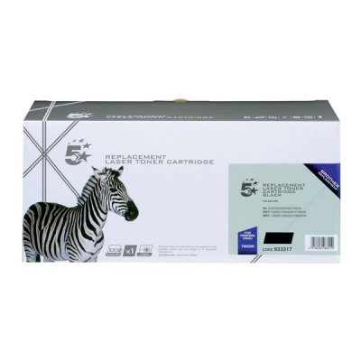 5 Star Compatible Laser Toner Cartridge Page Life 2600pp Black [Brother TN2220 Alternative]