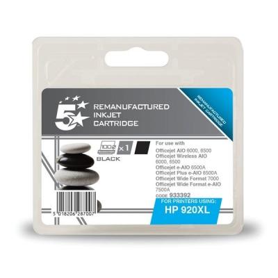 5 Star Compatible Inkjet Cartridge Page Life 700pp Black [HP No. 920XL CD975AE Alternative]