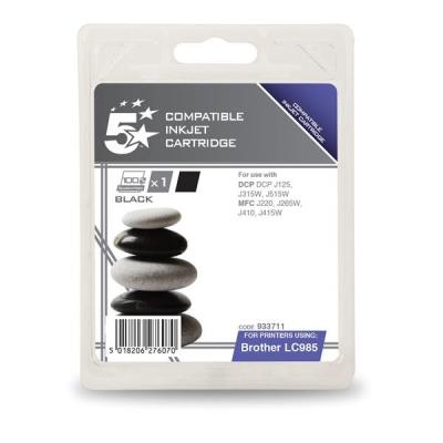 5 Star Compatible Inkjet Cartridge Page Life 300pp Black [Brother LC985BK Alternative]