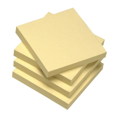 5 Star Eco Re-Move Recycled Notes Repositionable Pad of 100 Sheets 76x76mm Yellow [Pack 12]