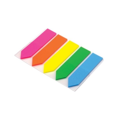 5 star Index Arrow 5 Bright Colours 12.5x50mm 5 Packs of 20 Flags [100 Flags]