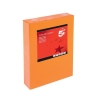 5 Star Coloured Copier Paper Multifunctional Ream-Wrapped 80gsm A4 Deep Orange [500 Sheets]