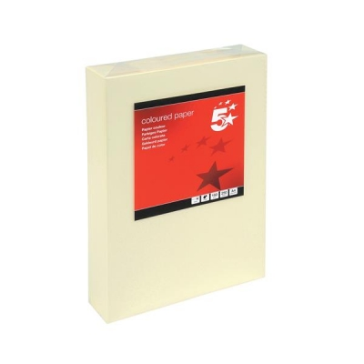 5 Star Coloured Card Multifunctional 160gsm A4 Light Cream [250 Sheets]